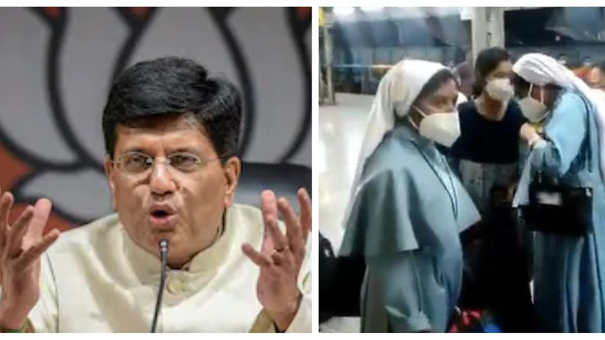 Piyush Goyal cornered: UP Railway police arrests 2 Hindutva activists for threatening Kerala nuns