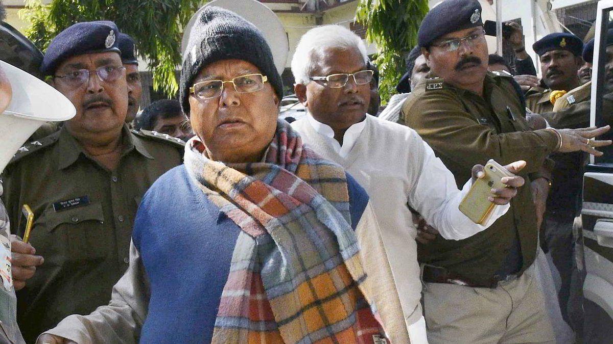 चारा घोटाला मामले में लालू यादव को साढ़े तीन साल की सजा, 5 लाख रुपये का जुर्माना