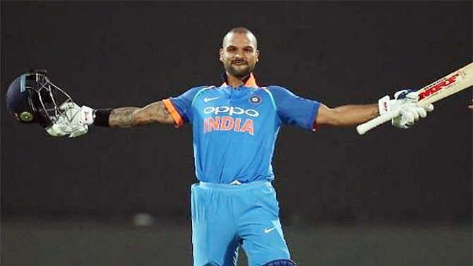रुकते-चलते चौथे वनडे में शिखर धवन के शतक से भारत ने द. अफ्रीका के सामने रखा 290 का लक्ष्य
