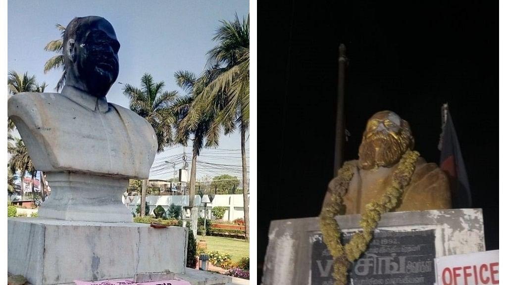 त्रिपुरा में 'लेनिन' और तमिलनाडु में 'पेरियार' के बाद अब कोलकाता में 'श्यामा प्रसाद मुखर्जी' की मूर्ति पर हमला