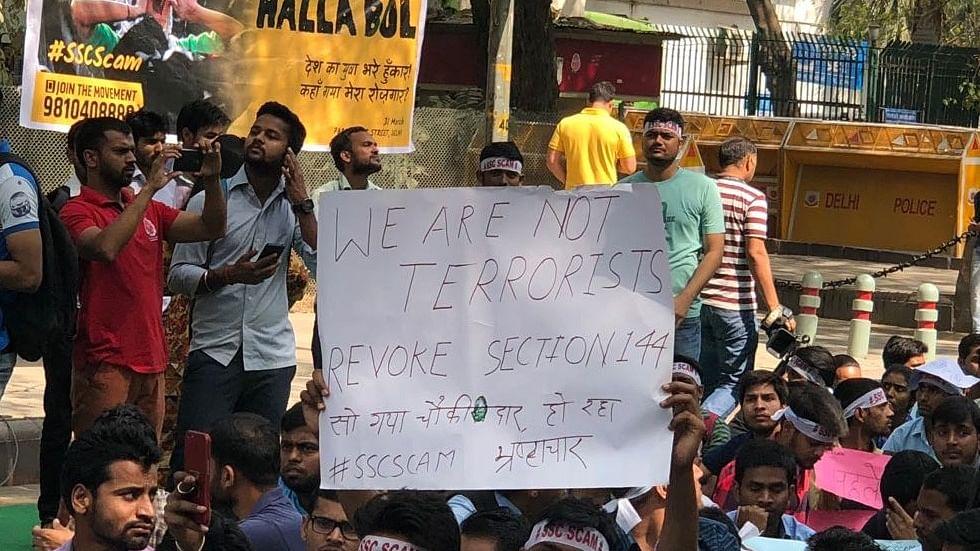 एसएससी घोटाला: सरकार के खिलाफ अभ्यर्थियों का हल्ला-बोल, संसद मार्ग पर जमा हुए देशभर के छात्र