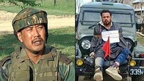 जम्मू-कश्मीरः मेजर गोगोई एक लड़की के साथ होटल से हिरासत में लिये गये, मानव ढाल को लेकर रहे थे विवादों में