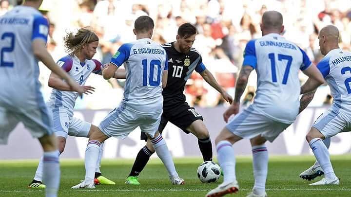फीफा विश्व कप : मेसी नहीं दिखा पाए कमाल, अर्जेन्टीना का आइसलैंड से ड्रॉ, डेनमार्क और क्रोएशिया को मिली जीत