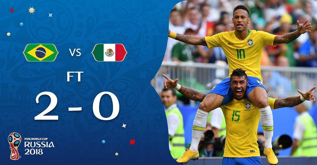 फीफा विश्व कप : नेमार के प्रदर्शन से ब्राज़ील लगातार सातवीं बार क्वार्टर फाइनल में