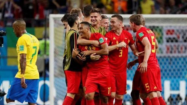 फीफा विश्व कप:  बेल्जियम ने 5 बार के चैंपियन ब्राजील को और फ्रांस ने उरुग्वे को हराकर सेमीफाइनल में बनाई जगह