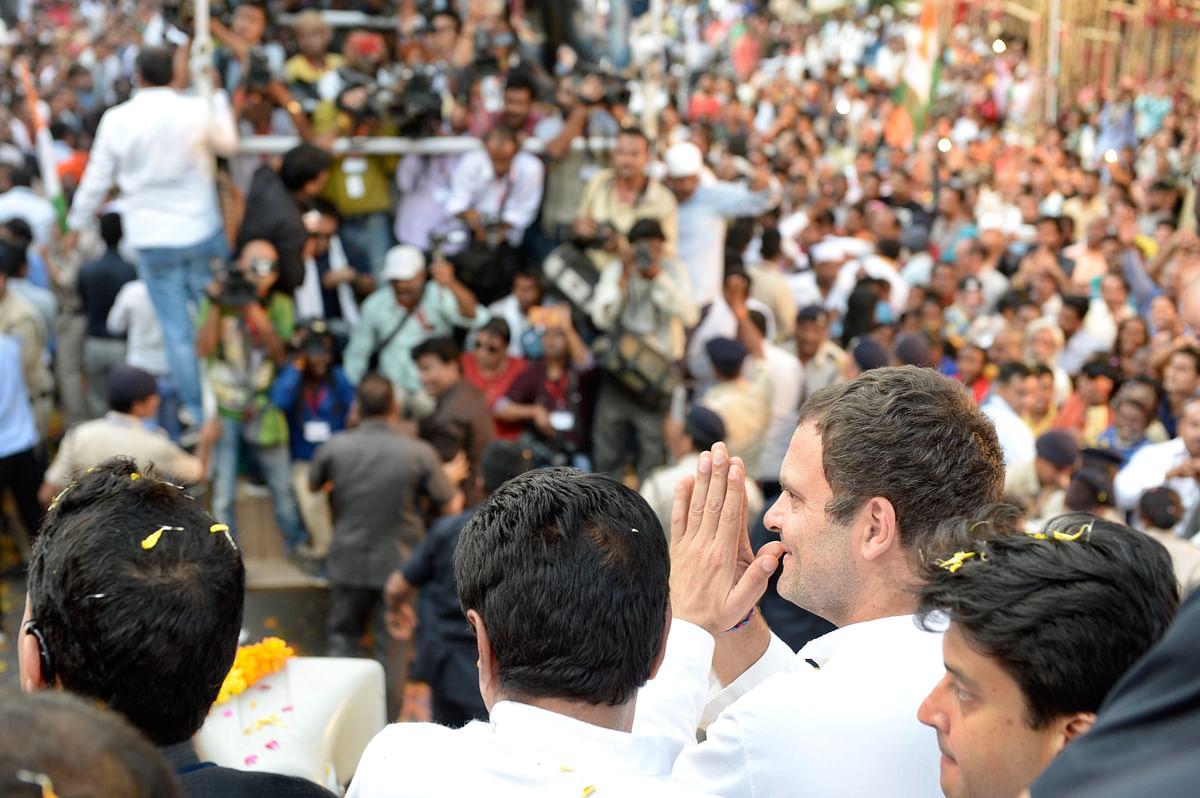 राहुल गांधी के जबलपुर रोड शो में उमड़ा जन सैलाब