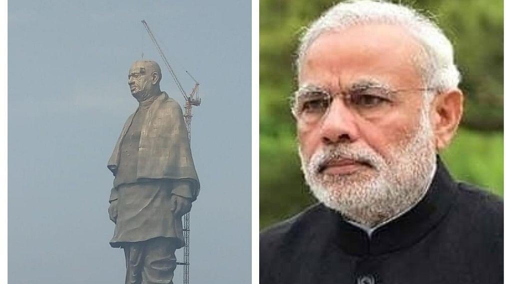 गुजरातः 'स्टैच्यू ऑफ यूनिटी' के उद्घाटन का विरोध कर रहे आदिवासियों ने पीएम मोदी  के पोस्टर फाड़े, पोती कालिख