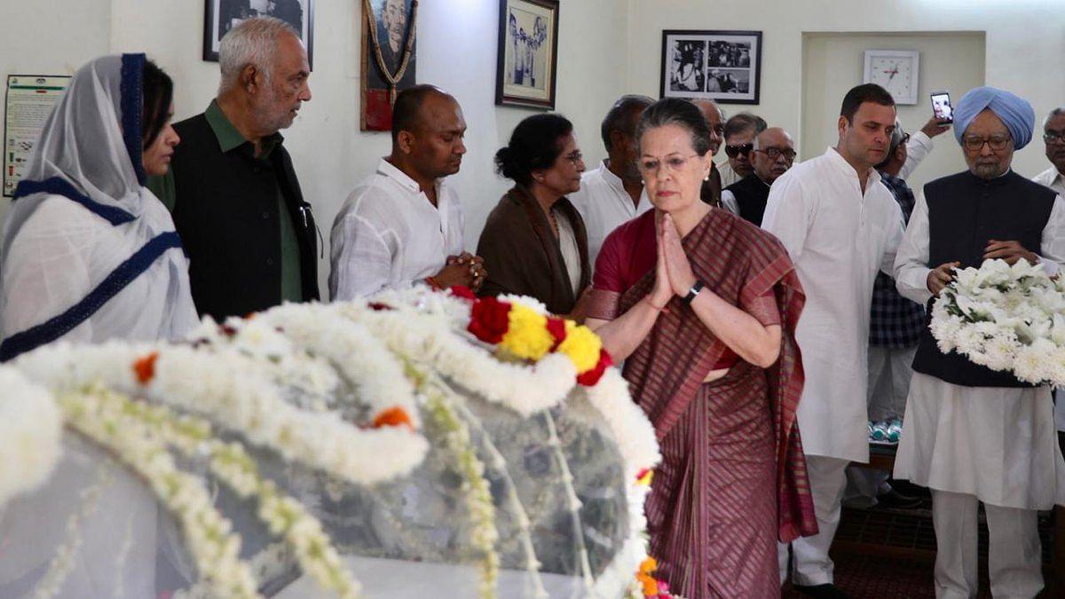 दिल्ली: सोनिया और राहुल गांधी ने एनडी तिवारी को दी श्रद्धांजलि, 21 को हलद्वानी  में होगा अंतिम संस्कार