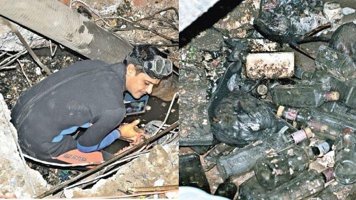 बिहारः नीतीश सरकार की शराबबंदी का हाल, हर नाले से निकल रही हैं खाली बोतलें और पाउच