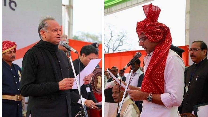 राजस्थान: गहलोत ने सीएम, पायलट ने डिप्टी सीएम पद की ली शपथ, समारोह में राहुल के साथ विपक्षी दलों के नेता शामिल
