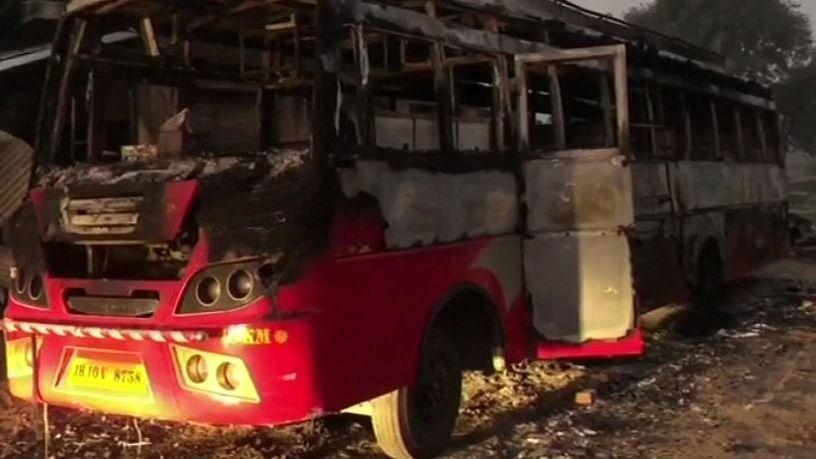 बिहार: औरंगाबाद में नक्सलियों का तांडव, 6 वाहन फूंके, सामुदायिक भवन को उड़ाया, एक शख्स की मौत