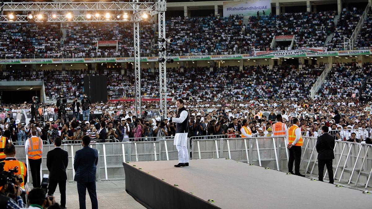 दुबई में राहुल गांधी का भावुकतापूर्ण संबोधन: 'जब तक ज़िंदा हूं, मेरे दरवाज़े, मेरा दिल आपके लिए खुला रहेगा'