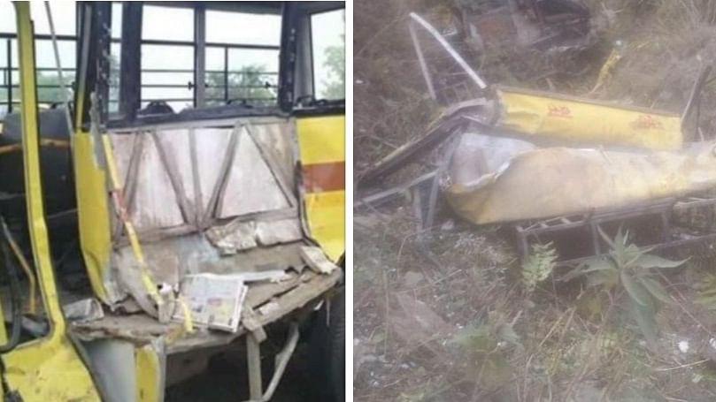 हिमाचल प्रदेश: सिरमौर में स्कूल बस खाई में गिरी, 6 छात्रों समेत 7 लोगों की दर्दनाक मौत