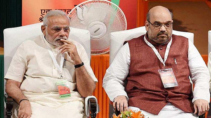 एनआरसी पर शाह का बयान बीजेपी की टुकड़े-टुकड़े नीति, चौतरफा विरोध, बीजेपी नेता बोला- पीएम के सामने दे दूंगा जान