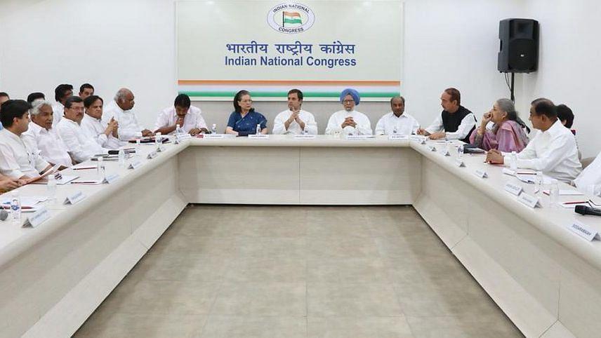 कार्यसमिति की बैठक में राहुल गांधी ने की इस्तीफे की पेशकश की,  कार्य समिति ने खारिज किया इस्तीफा