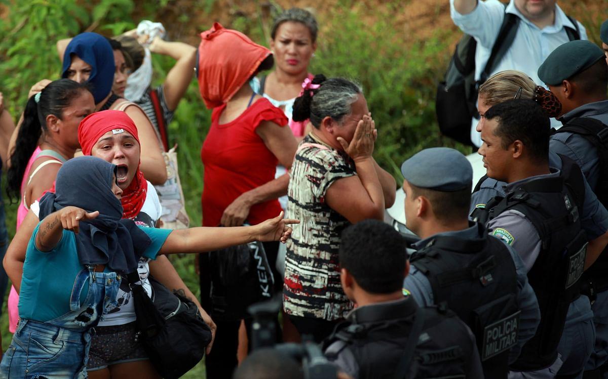 ब्राजील के जेल में गैंगवार, दो गुटों के बीच हिंसा में 57 कैदियों की  मौत, 16 कैदियों के सिर धड़ से अलग