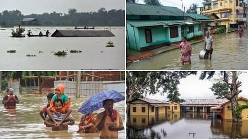 देश का आधा हिस्सा बारिश और बाढ़ की चपेट में, कहीं सड़कें जलमग्न तो कहीं डूब गए पूरे गांव, जनजवीन अस्त व्यस्त