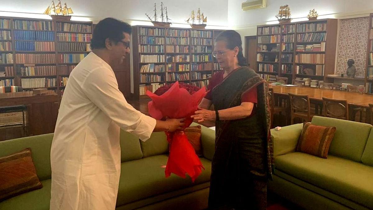 सोनिया गांधी से मिले राज ठाकरे, ईवीएम समेत  कई मुद्दों पर हुई चर्चा