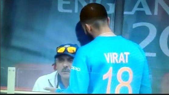 इस वजह से मैच के दौरान कोच रवि शास्त्री पर  भड़क गए कोहली? वायरल हुआ वीडियो