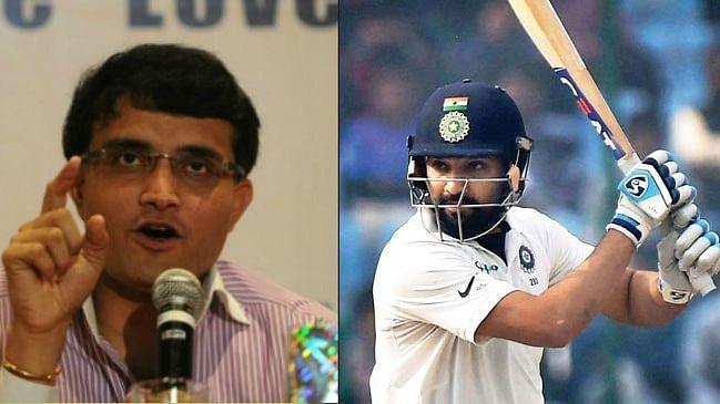 वनडे की तरह टेस्ट में भी रोहित शर्मा को सलामी बल्लेबाज की तरह खेलना चाहिए: गांगुली