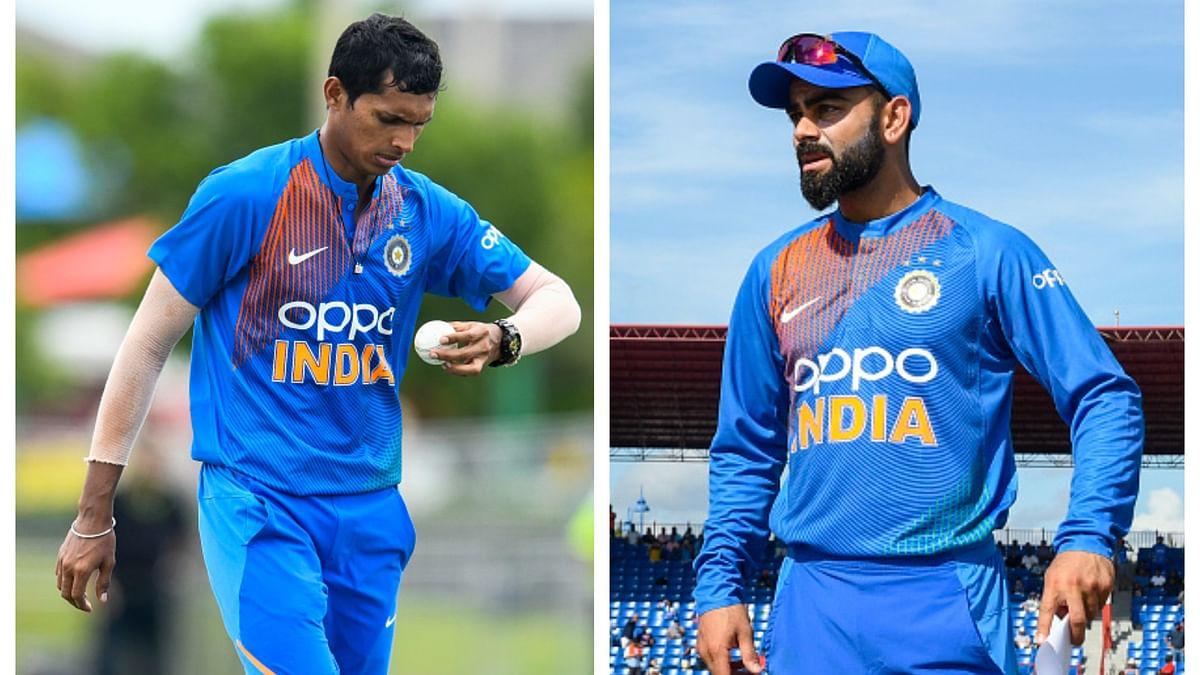 वेस्टइंडीज दौरा: पहले ही मैच में 'प्लेयर ऑफ द मैच' बनने पर कप्तान कोहली ने की नवदीप सैनी की तारीफ