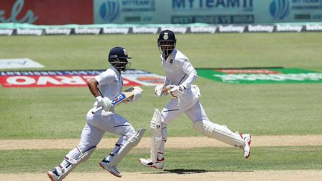 वेस्टइंडीज में खेले जा रहे पहले टेस्ट में रहाणे-राहुल की पारी से संभला भारत, पहले दिन बनाए 203/6