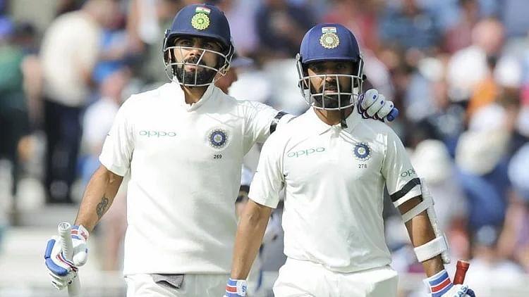 एंटिगा टेस्ट :  भारत को 260 रनों की बढ़त, कोहली, रहाणे ने जड़े अर्धशतक
