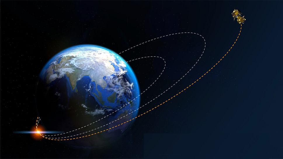 पृथ्वी की कक्षा छोड़ चांद की तरफ बढ़ा चंद्रयान-2, 6  दिन बाद करेगा चंद्रमा की कक्षा में प्रवेश