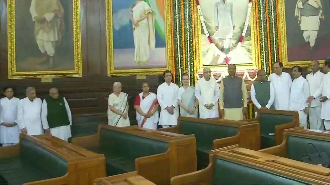 राजीव गांधी की 75वीं जयंती: सोनिया गांधी, राहुल गांधी, लोकसभा अध्यक्ष समेत कई नेताओं ने संसद भवन में दी श्रद्धांजलि