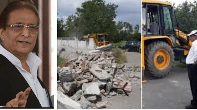 रामपुर में आजम खान के 'हमसफर रिसॉर्ट' की दीवार पर चला बुलडोजर, जमीन पर अवैध निर्माण कराने का आरोप