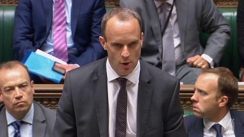 ब्रिटेन के विदेश मंत्री डॉमिनिक राब (फोटो : सोशल मीडिया)