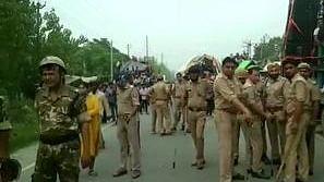 योगी राज में प्रतिमाओं को तोड़ने का सिलसिला जारी, सहारनपुर में तोड़ी गई आंबेडकर की मूर्ति, दलितों का प्रदर्शन