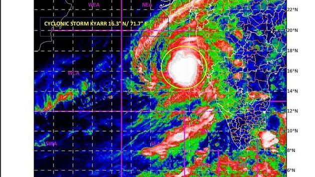 बड़ी खबर LIVE: खतरनाक हुआ 'क्यार', महाराष्ट्र के तटीय इलाकों में भारी बारिश की आशंका, गोवा-कर्नाटक पर भी असर