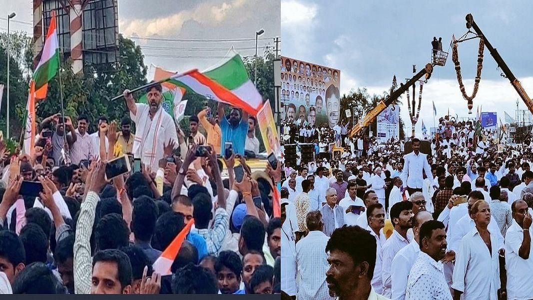 बेंगलुरू में 250 किलो सेब की माला से डीके शिवकुमार का स्वागत, समर्थकों के बीच बोले- झुकुंगा नहीं, लड़ता रहूंगा