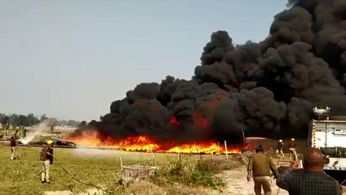 योगीराज में किसानों का प्रदर्शन, उन्नाव के गोदाम में आगजनी पर बोले डीएम- ये किसानों का नहीं, उपद्रवियों का काम