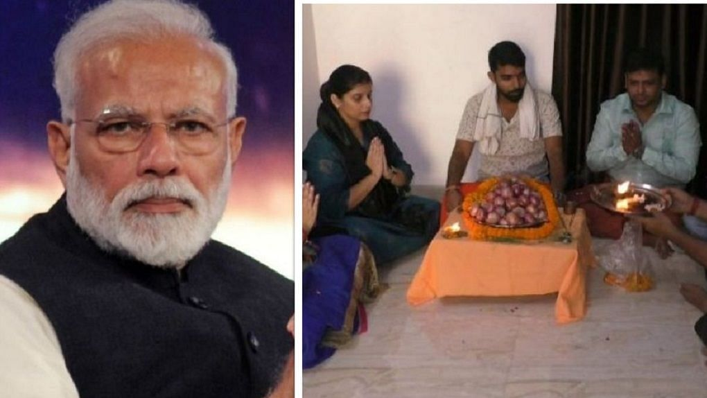 पीएम मोदी के संसदीय क्षेत्र में केंद्रीय मंत्री की बहू ने की प्याज की पूजा, कहा- महंगाई ने डाला जेब पर डाका