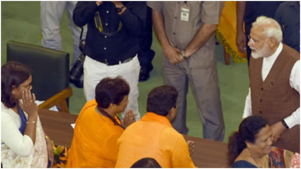 रक्षा मंत्रालय की कमेटी में साध्वी प्रज्ञा, कांग्रेस का तंज- आखिरकार मोदी जी ने 'मन से माफ' कर दिया