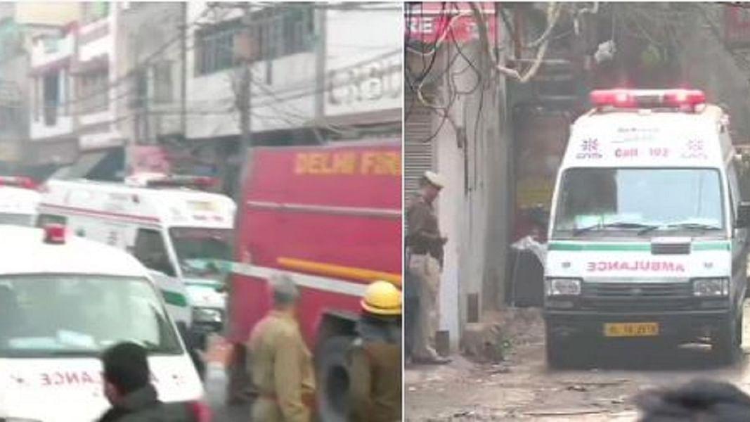 दिल्ली: अनाज मंडी के पास फैक्ट्री में आग से कोहराम, 43 की मौत, कई लोगों की हालत नाजुक