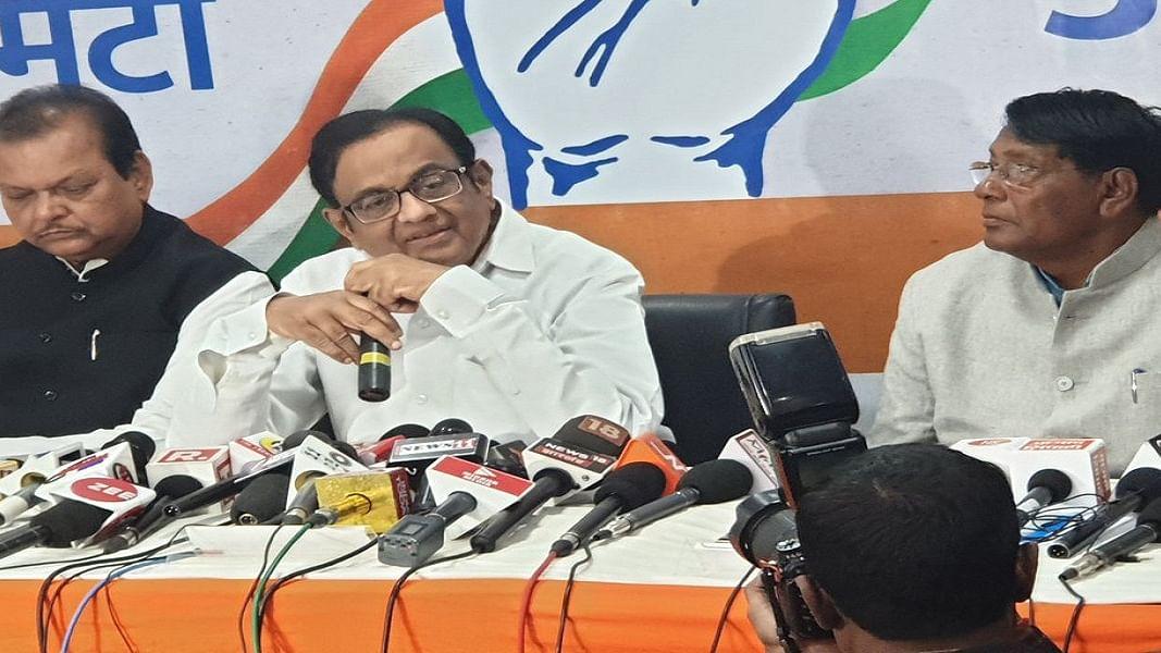 झारखंड पहुंचे चिदंबरम बीजेपी पर बरसे, बोले- नाकाबिल रघुवर सरकार को सत्ता से बाहर करना ही होगा