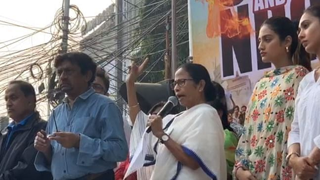 नागरिक कानून के विरोध में फिर सड़क पर उतरीं ममता बनर्जी, दिया नारा- 'No CAA, No NRC in Bengal'
