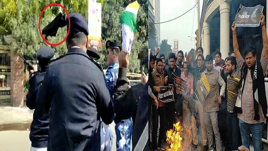 CAA-NRC: कोलकाता में पीएम मोदी का जोरदार विरोध, NSUI ने दिखाए काले झंडे, लगाए 'गो बैक मोदी' के नारे