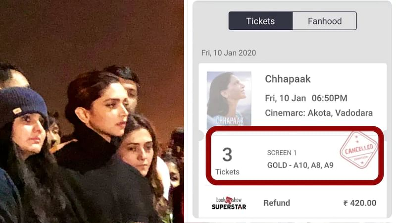 जेएनयू में दीपिका की मौजूदगी के बाद 'छपाक' की टिकट कैंसिल करने के नाम पर  सामने आया 'भक्तों' का  फर्जीवाड़ा!