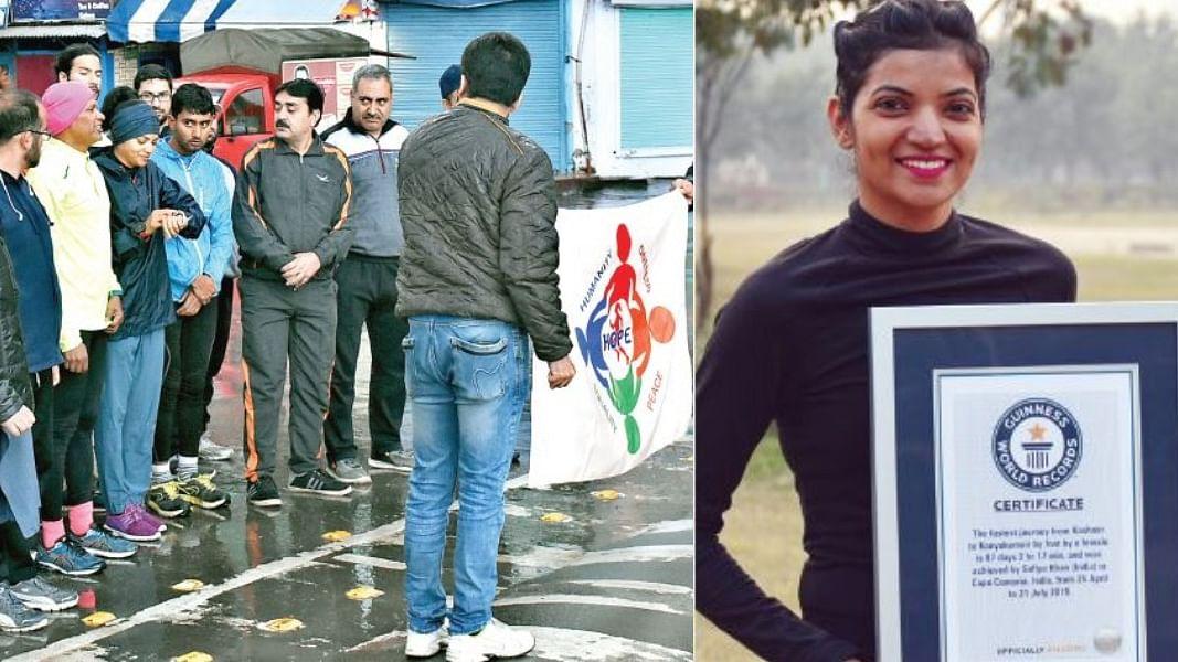 कश्मीर से कन्याकुमारी तक अपनी दौड़ के दौरान जाना- जरूरत है कश्मीर के बारे में मानसिकता बदलने की
