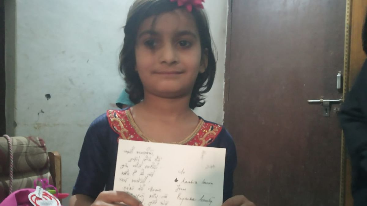 आजमगढ़ की अनाबिया को प्रियंका गांधी ने भेजा तोहफा, लिखा- 'हमेशा मेरी ब्रेवगर्ल रहना और जब भी दिल करे फोन करना'