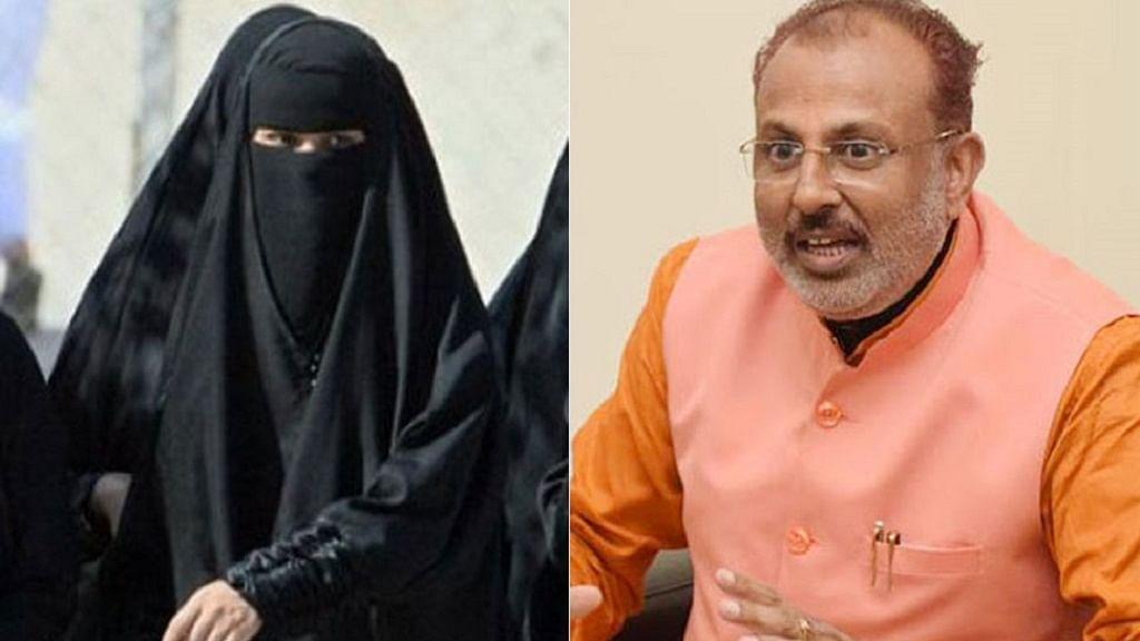योगी के मंत्री रघुराज सिंह का विवादित बयान, मुस्लिम महिलाओं के बुर्के को आतंकवाद से जोड़कर की रोक लगाने की मांग
