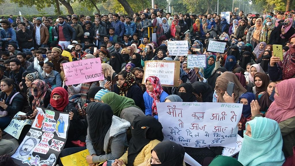उत्तर प्रदेश: अलीगढ़ में CAA विरोधी प्रदर्शन स्थल को पुलिस ने कराया खाली