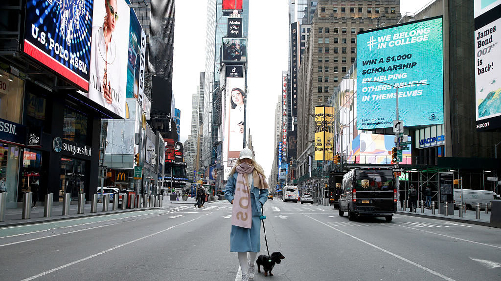 न्यूयॉर्क का टाइम्स स्क्वायर - फोटो : Getty Images