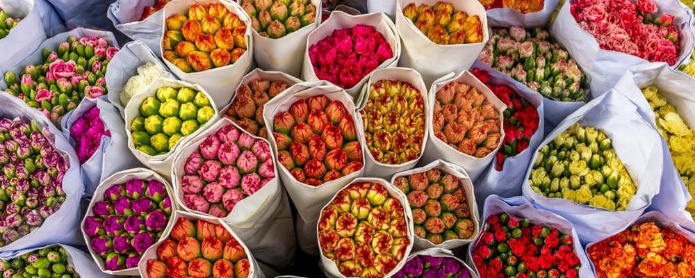 लॉकडाउन से मुरझा गई है गाजीपुर की फूल मंडी, नवरात्र पर भी सन्नाटा, दिहाड़ी मजदूरों के सामने रोजी-रोटी का संकट