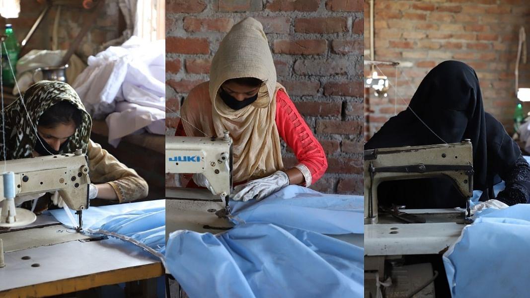 दिल्ली दंगा पीड़ित महिलाएं बना रही हैं मास्क और पीपीई किट, शिव विहार में जला दिया गया था घर