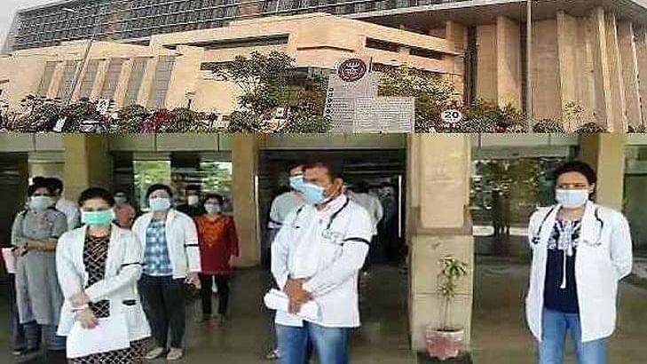 हरियाणाः अगले ही दिन खुली खट्टर के दावों की पोल, फरीदाबाद में डॉक्टरों ने सुरक्षा और सैलरी को लेकर किया हंगामा